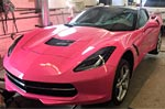 L.A.'s Angelyne the 'Billboard Queen' and Her Pink C7 Corvette Stingray
