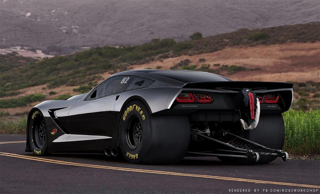 Pic C7 Corvette Stingray Rendered As A Hennessey Hpe2000