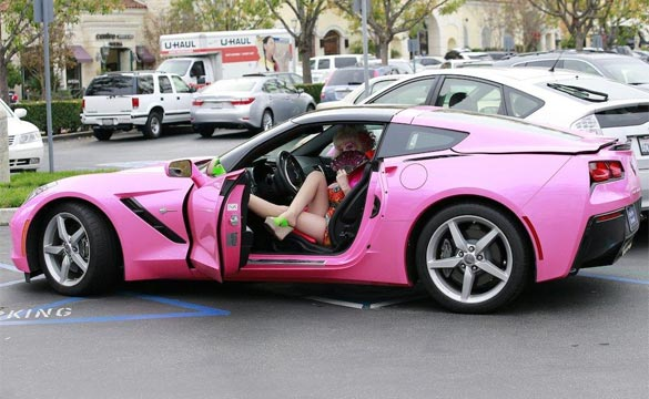 Las angelyne the billboard queen and her pink c7 corvette title sciox Images