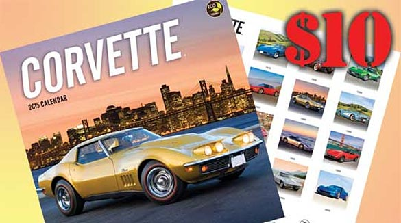 Get Your 2015 Corvette Wall Calendar from Corvette Central