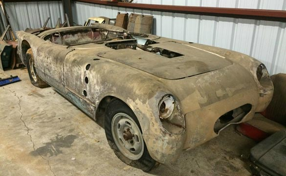 1954 Corvette Barn Find May Be a Bonneville Salt Flat Racer