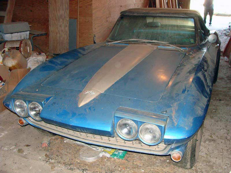 PICS 1967 Corvette Sting Ray Barn Find In Texas Now On EBay