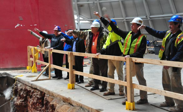Construction Workers Officially Start to Fill in the Corvette Museum's Sinkhole