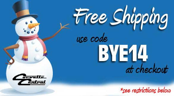 Last Call for Free Shipping from Corvette Central