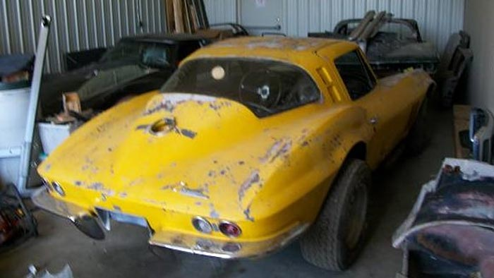 Corvettes on Craigslist: Wrecked and Parked 1965 Corvette