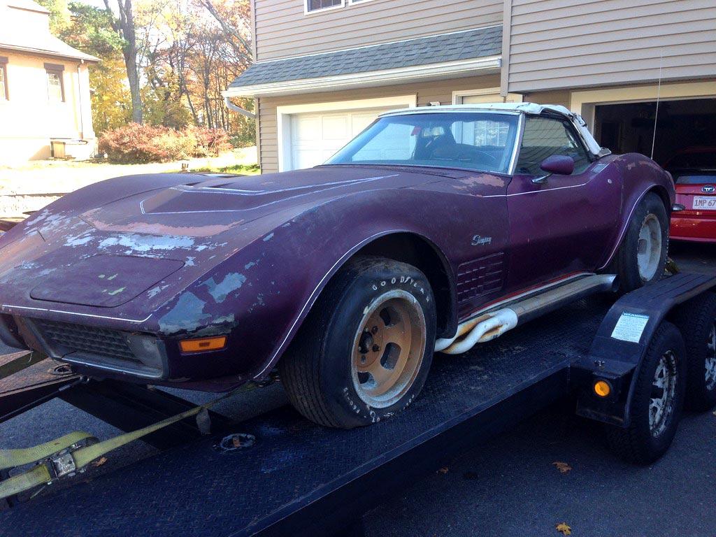 Corvettes On Ebay Garage Find 1970 Corvette Parked Since 1976