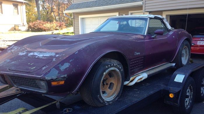 Corvettes on eBay: Garage Find 1970 Corvette Parked Since 1976