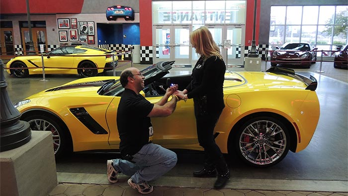 National Corvette Museum >> Pennsylvania Man Gets The Car And The Girl At The National Corvette