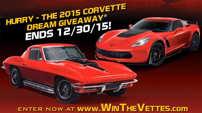 [VIDEO] Corvette Dream Giveaway Ending Soon so Get Your Tickets Today!