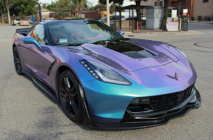 Pics Lavender Turquoise Wrapped Corvette Stingray Is A