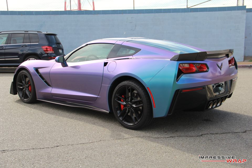 PICS] Lavender Turquoise Wrapped Corvette Stingray is a