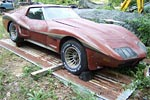 Corvettes on eBay: Barn Find 1974 Corvette with Greenwood Widebody Kit
