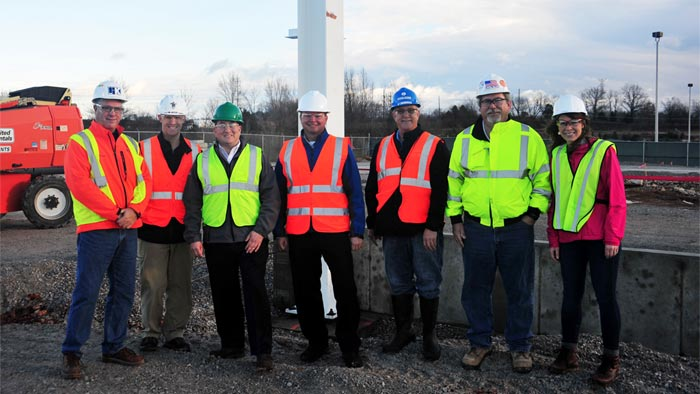 First Beam Set for the New Corvette Paint Shop at the Bowling Green Assembly Plant