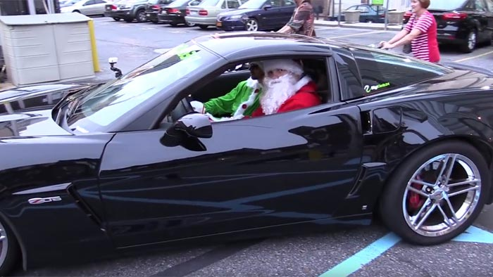 [VIDEO] Santa Hands out Toys to Kids in Philly from a C6 Corvette Z06