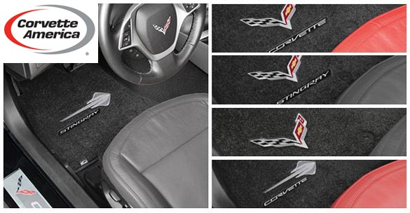 New C7 Corvette Embroidered Mats from Corvette America