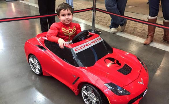Corvette Museum Hosts a Museum Delivery for a Four-Year-Old's Corvette Power Wheels