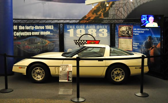 National Corvette Museum Creates New Display for World's Only 1983 Corvette