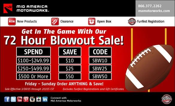 Mid America Motorworks 72 Hour Sale