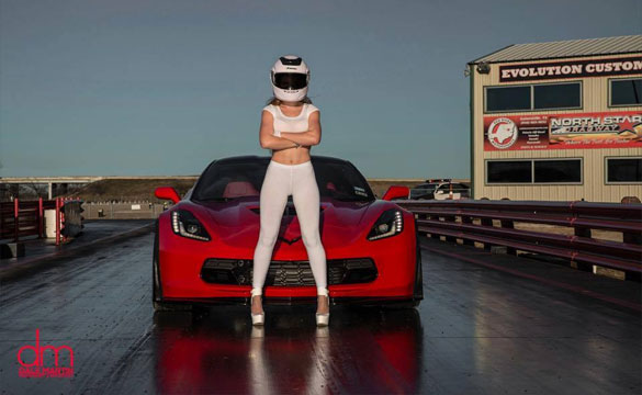 [PICS] The Stig's Wife Drives a Corvette Z06