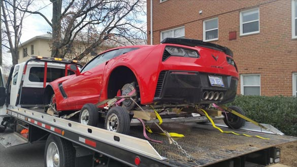 2015 Corvette Z06 Has Wheels Stolen While Parked at an Apartment Complex
