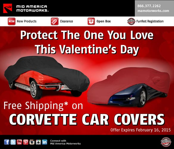 Show Your Corvette Some Love with Free Shipping on Car Covers from Mid America Motorworks