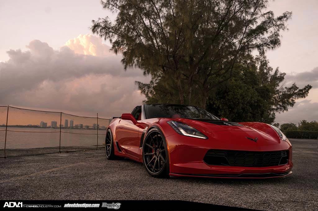 corvette z06 looks stunning on matte black adv1 wheels - 2015 Corvette Stingray Matte Black