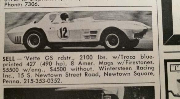 [PIC] Throwback Thursday: 1963 Corvette Grand Sport for Sale