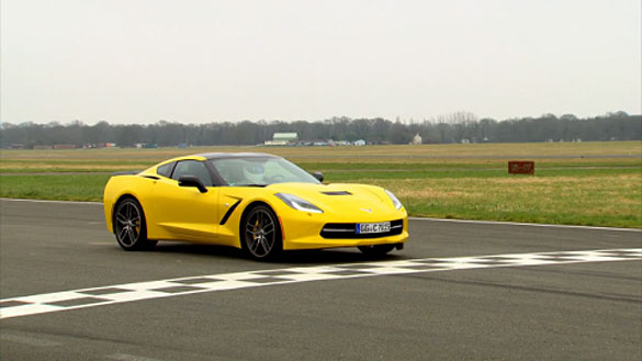 Watch The Stig Thrash a Corvette Stingray Around Top Gear's Test Track