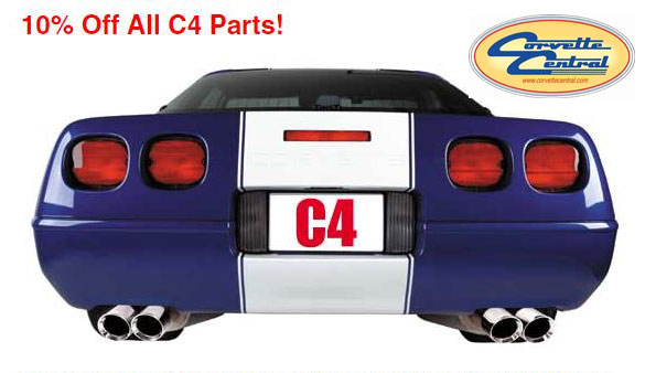 Save 10% on C4 Corvette Parts and Accessories at Corvette Central