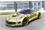 Forgiato Widebody Corvette Stingray Shines Bright in Shimmery Gold Wrap