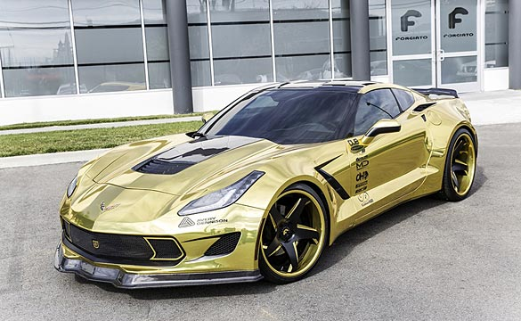 [VIDEO] Forgiato Widebody Corvette Stingray Shines Bright in Shimmery Gold Wrap
