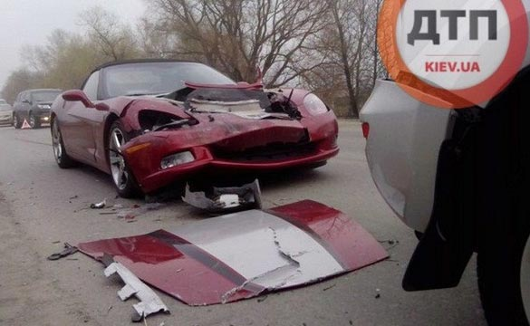 [ACCIDENT] 2008 Corvette Rear Ends a Toyota in the Ukraine