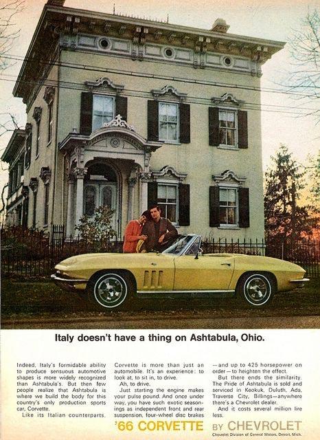 [PIC] Throwback Thursday: 1966 Corvette Vintage Advertisement
