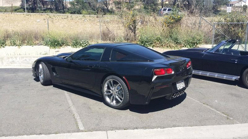 C5 Corvette Receives A Rear Fascia Transplant From A C7 Corvette