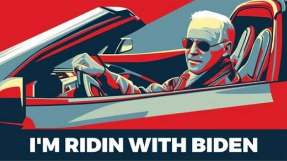 'I'm Ridin with Biden' Draft Movement Features the Vice President in a Corvette Stingray