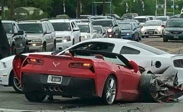 Man in Stolen Corvette Stingray Crashes into a Mustang in San Antonio