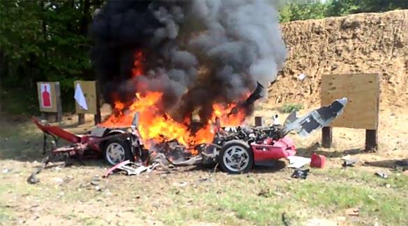 Viper Club Blows Up a C4 Corvette