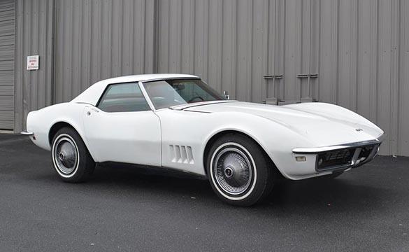 Classic White 1968 Corvette Convertible