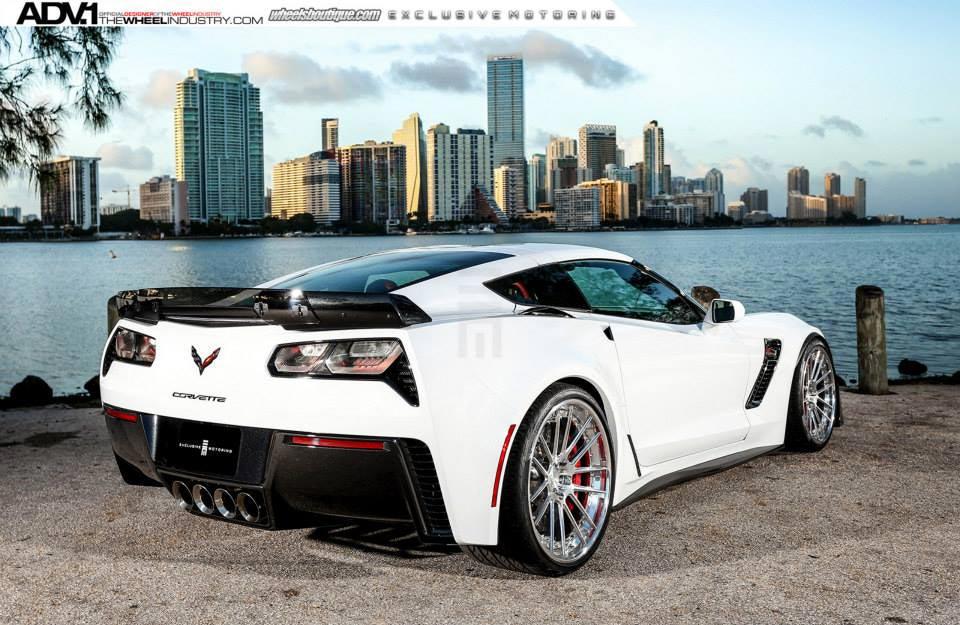 pics shock and awe arctic white corvette z06 on polished aluminum adv 1 wheels corvette. Black Bedroom Furniture Sets. Home Design Ideas