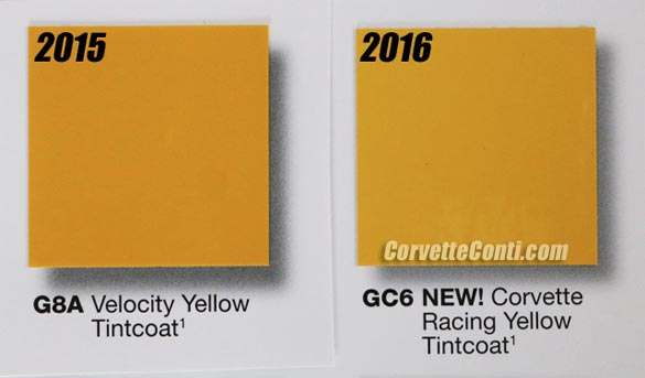 New 2016 Corvette Colors Revealed!