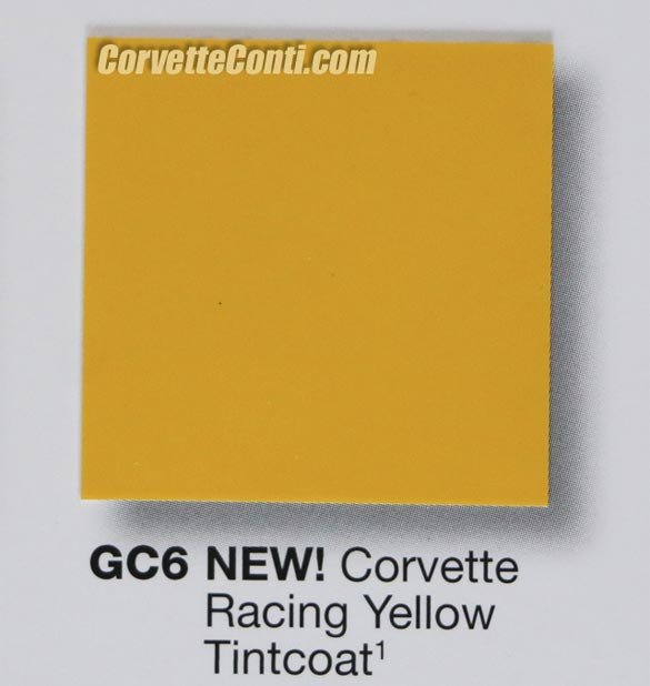 2016 Corvette Color - Corvette Racing Yellow