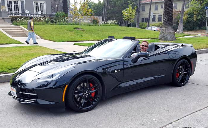 [PIC] 90210 and Sharknado Star Ian Ziering Drives a Black Corvette Stingray