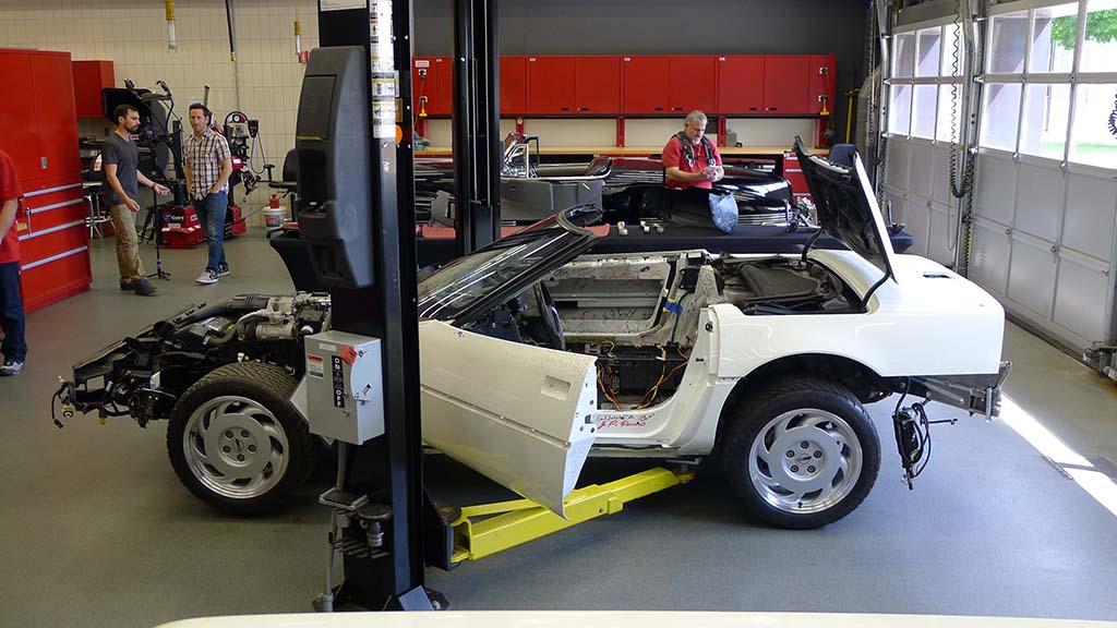 GM Shows Off Restoration Progress Of The Millionth Corvette - Car restoration shows