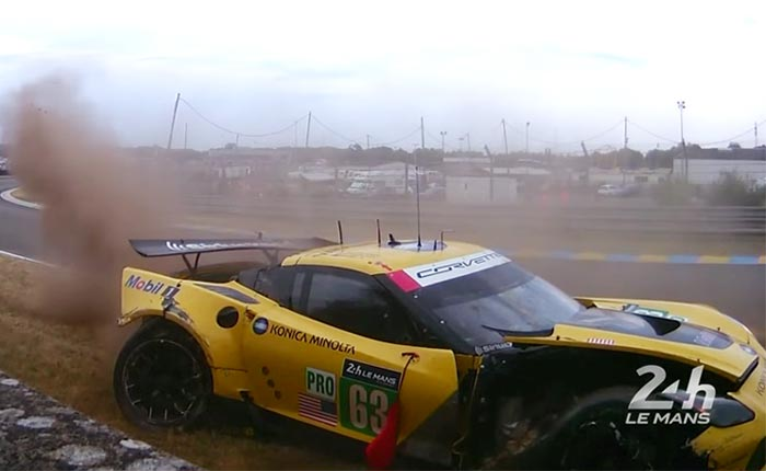 [VIDEO] Corvette Racing Withdraws No.63 C7.R From Le Mans After Qualifying Accident
