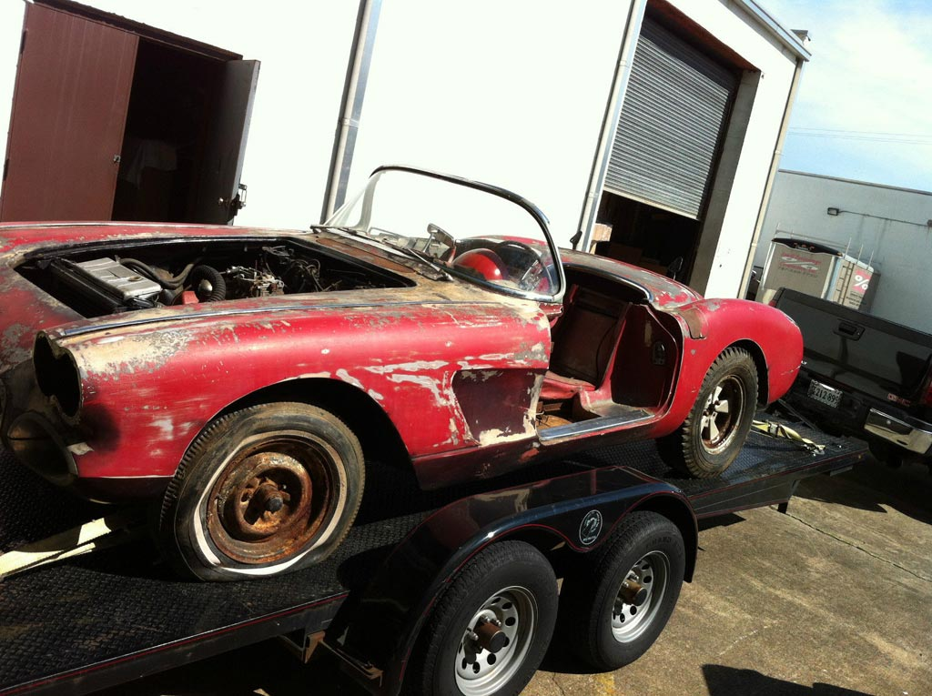 Corvettes On EBay Barn Find 1960 Corvette Would Make A Great Project Car