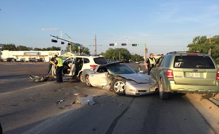 [ACCIDENT] Teenage C5 Corvette Driver Causes Three Car Crash in Texas