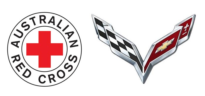 Australian Red Cross vs C7 Corvette Logo
