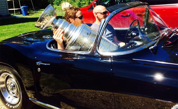 [PICS] NHL's Stanley Cup Hits the Beach in a 1962 Corvette