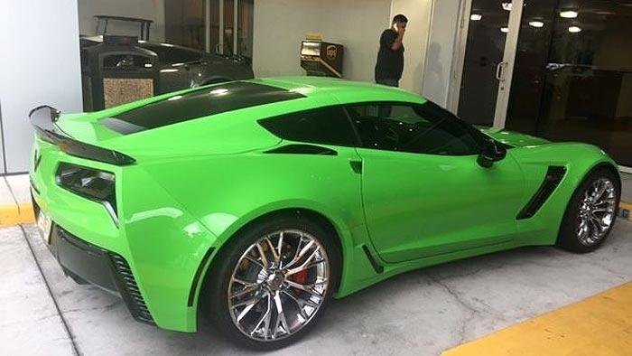 [PICS] Corvette Z06 Is Repainted an Envious Green