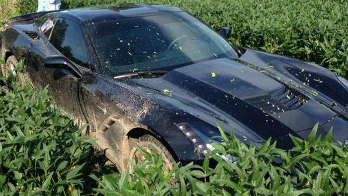 [ACCIDENT] Corvette Stingray Ends Up in Missouri Soybean Field